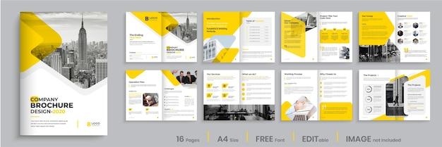 Layoutdesign der broschürenvorlage, modernes design der broschüre