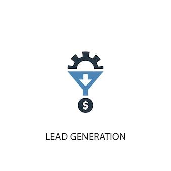 Lead generation konzept 2 farbiges symbol. einfache blaue elementillustration. symboldesign für das konzept der lead-generierung. kann für web- und mobile ui/ux verwendet werden