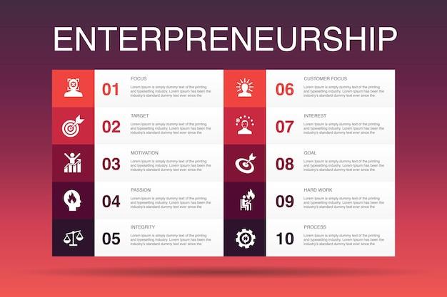 Lead-konvertierung infografik-designvorlage.verkauf, analyse, aussicht, einfache symbole für kunden
