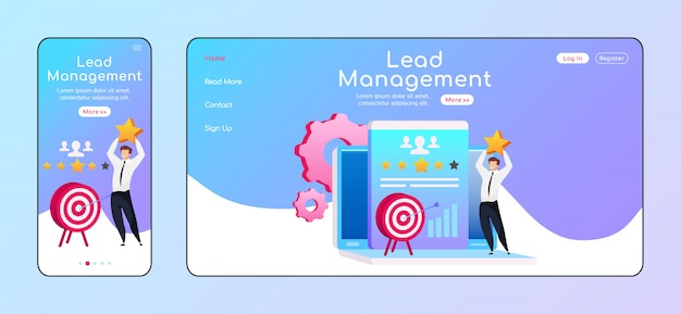 Lead management landing page