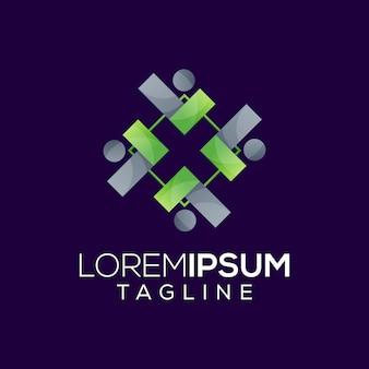 Leader mit management-logo-design