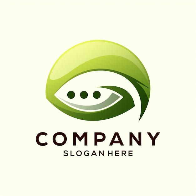Leaf chat-logo
