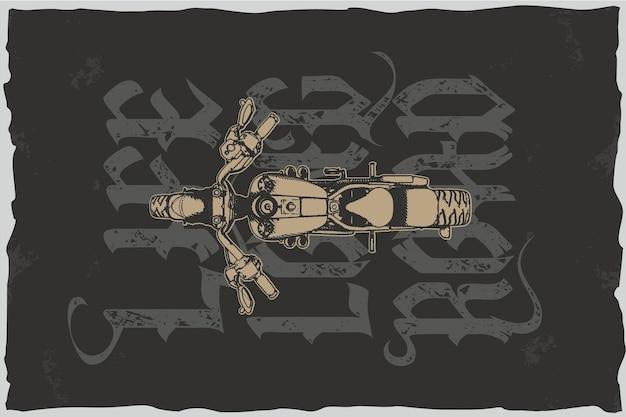 Leben lange straße - t-shirt-vektor-illustration