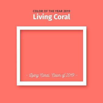 Lebender korallenroter hintergrund