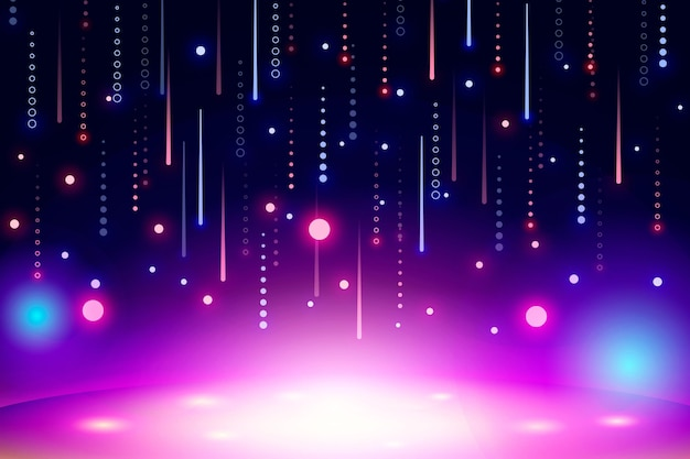 Lebendige abstrakte neon-tapete