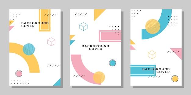 Lebendige memphis-layout-sammlung