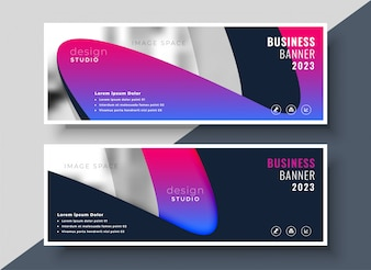 Lebendige moderne Business-Banner mit Bild Raum