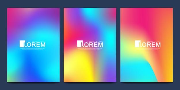 Lebendige verlaufsfarben mit abstrakten fließenden formen