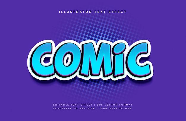 Lebendiger comic-textstil-schrifteffekt