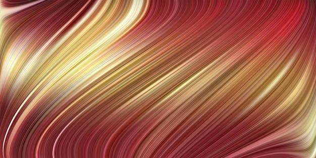 Lebendiger farbverlauf und gestreifter gewellter hintergrund