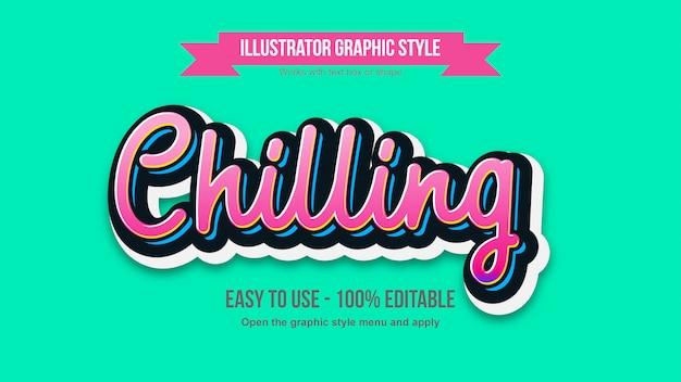 Lebendiger rosa handgeschriebener typografie-bearbeitbarer effekt