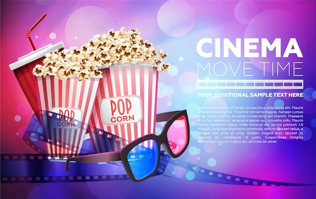 Lebendiges plakat für die kinowerbung