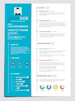 Lebenslauf mit infografiken