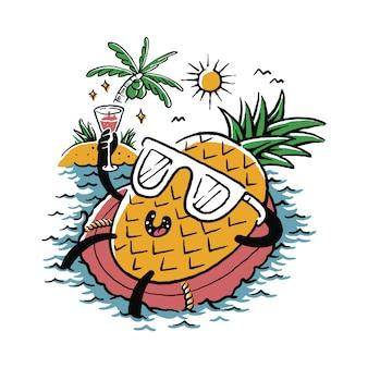 Lebensmittel-ananas-frucht-liebes-sommer