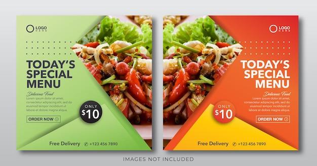 Lebensmittel-banner für social-media-post-vorlage