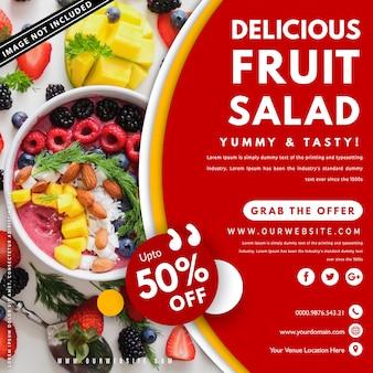 Lebensmittel banner vorlage mit foto