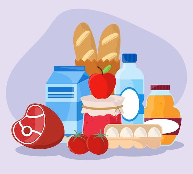 Lebensmittel des täglichen bedarfs