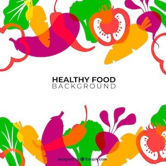 Lebensmittel hintergrund mit gemüse