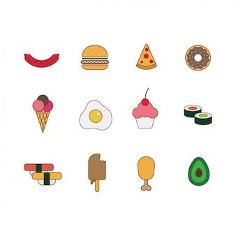 Lebensmittel-icon-sammlung