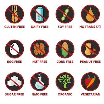 Lebensmittel-ikonen-sammlung