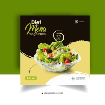 Lebensmittel instagram post design