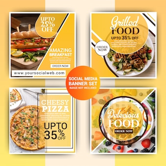 Lebensmittel instagram post template