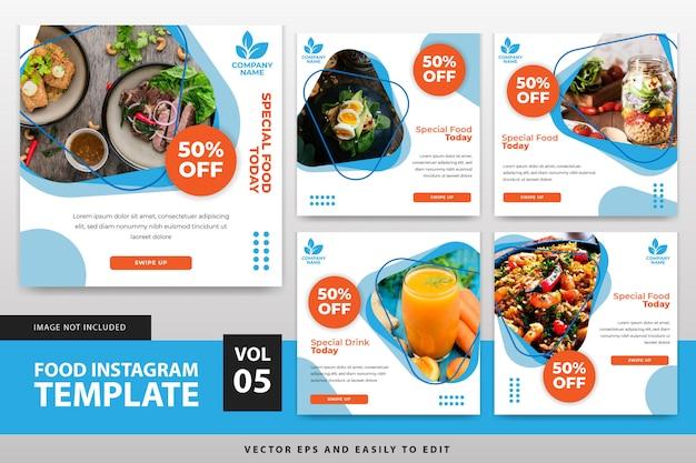 Lebensmittel instagram post vorlage