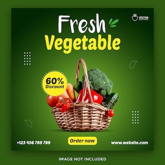 Lebensmittel-lebensmittel social media banner vorlage