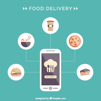 Lebensmittel-lieferservice infografik