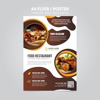 Lebensmittel restaurant business mulripurpose a4 flyer prospekt vorlage