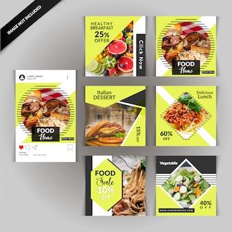 Lebensmittel-restaurant social media post