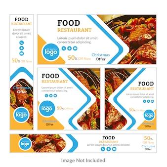 Lebensmittel Restaurant Web Banner Set