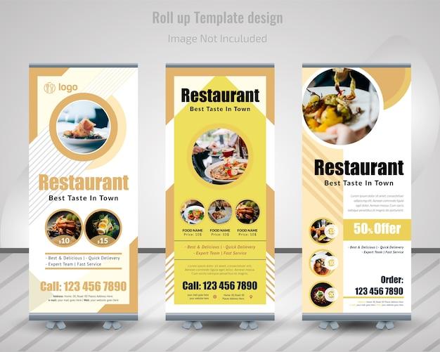 Lebensmittel roll up banner design für restaurant