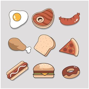 Lebensmittel-sammlung-vektor