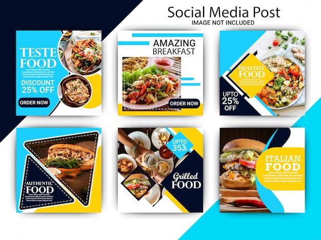 Lebensmittel social media beitragsvorlage