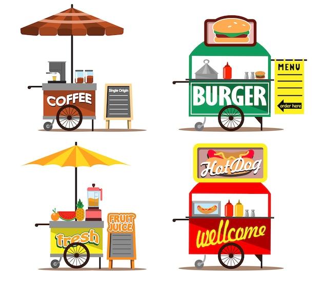 Lebensmittel straßenverkäufer