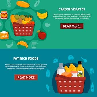 Lebensmittel supermarkt horizontale banner