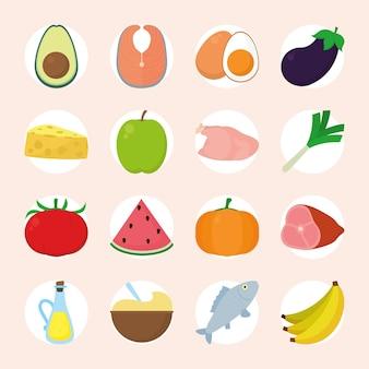 Lebensmittel und gemüse