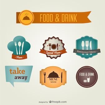 Lebensmittel-und getränkeetiketten