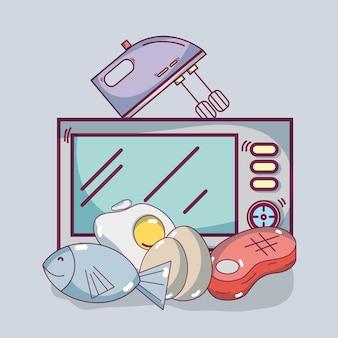 Lebensmittel und küchenzubehör