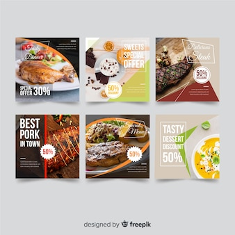 Lebensmittelangebot banner mit foto