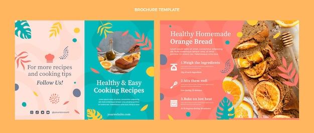 Lebensmittelbroschüre im flachen design