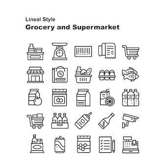 Lebensmittelgeschäft und supermarkt