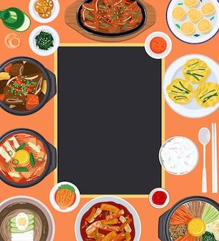Lebensmittelhintergrundillustration