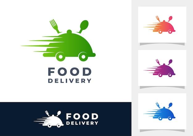 Lebensmittellieferung gradient logo vektor