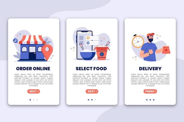 Lebensmittellieferung - onboarding-bildschirme