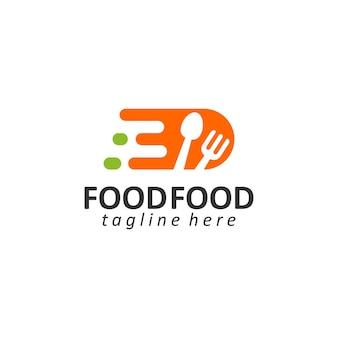 Lebensmittellogoschablonenvektor gesundes lebensmittellogokonzeptvektor