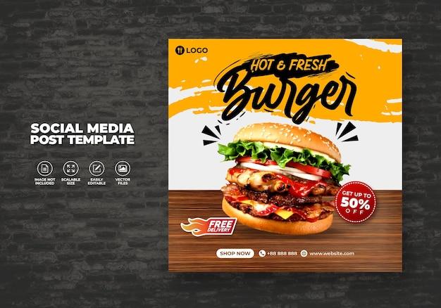Lebensmittelrestaurant für sozialmedienvorlage