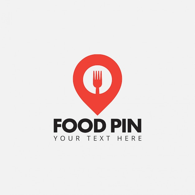 Lebensmittelstiftlogo-designschablonenvektor lokalisiert