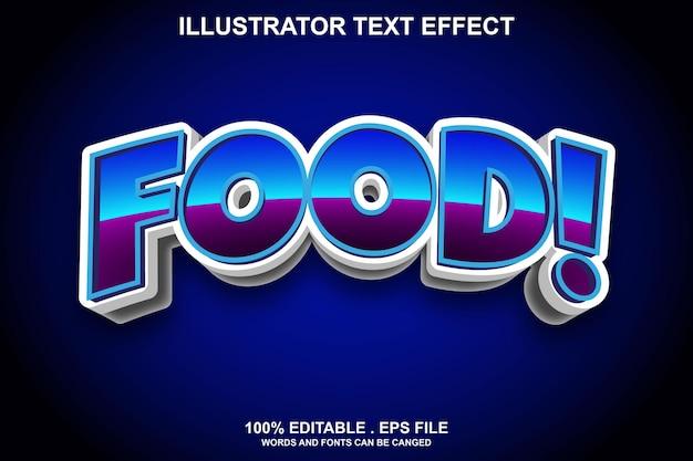 Lebensmitteltexteffekt editierbar